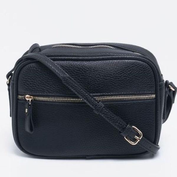 Bolsa couro preta