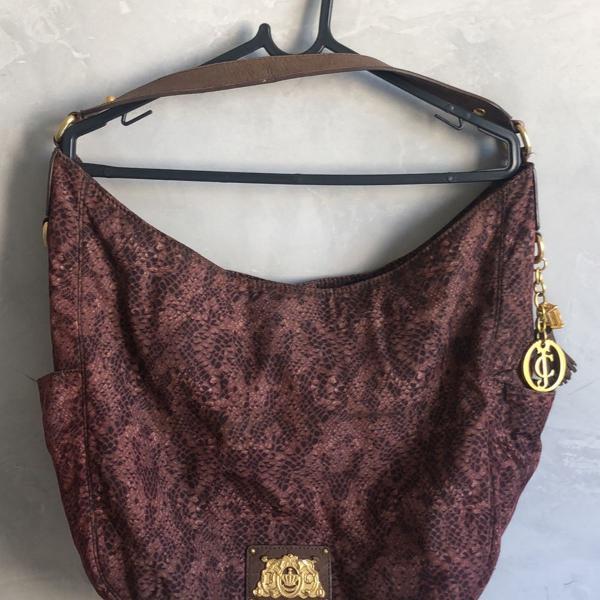 Bolsa juicy couture animal print marrom