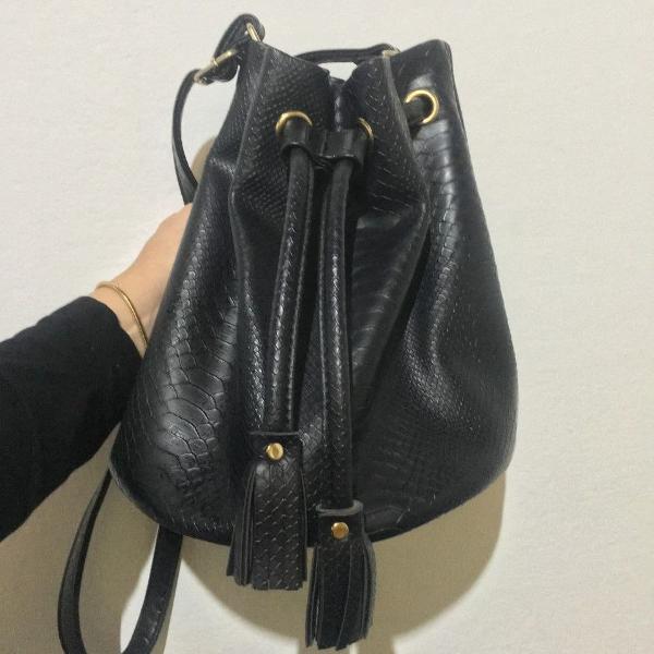 Bolsa saco couro - usado uma unica vez