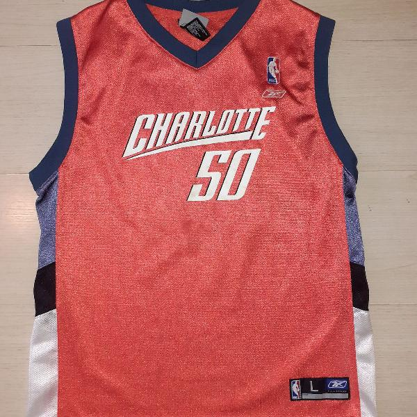 Camisa camiseta de basquete charlotte reebok