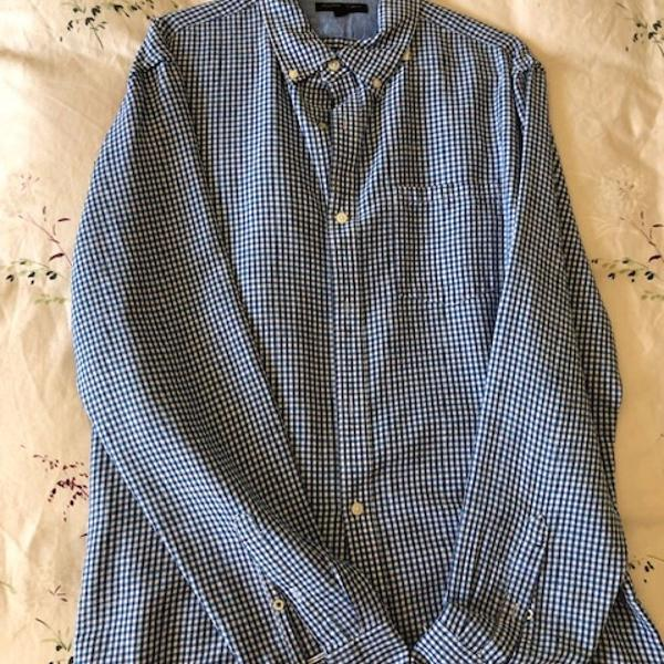 Camisa masculina xadrez, casual arrumado