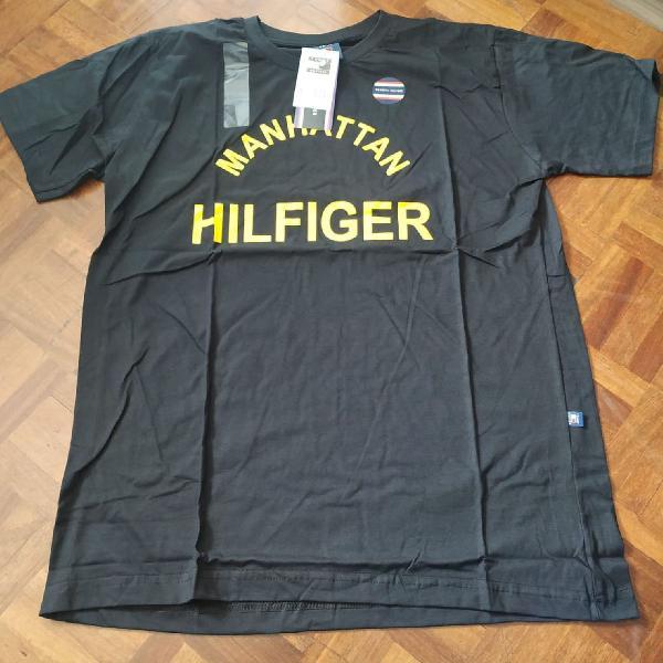 Camiseta tommy hilfiger manga curta preta