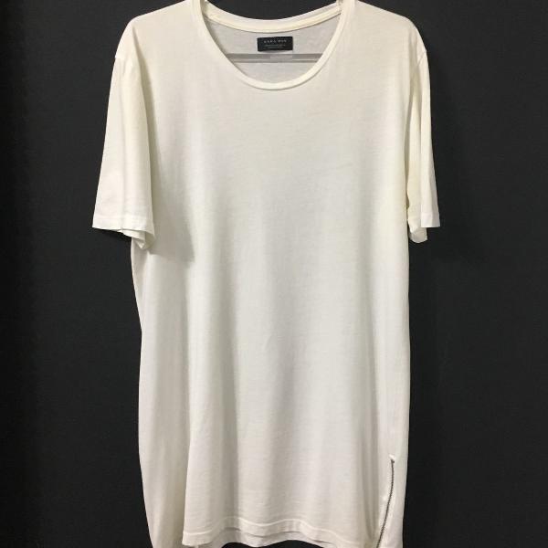 Camiseta alongada (longline) zara