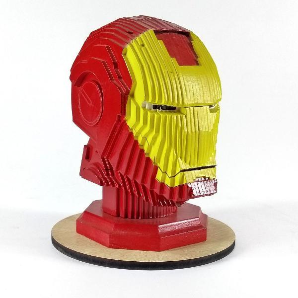 Decoração nerd homem de ferro marvel - busto em mdf