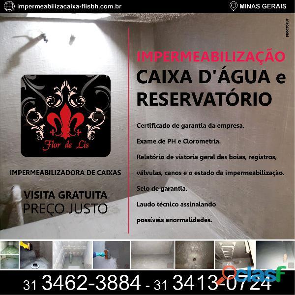 Impermeabilização de caixa d'água e reservatório
