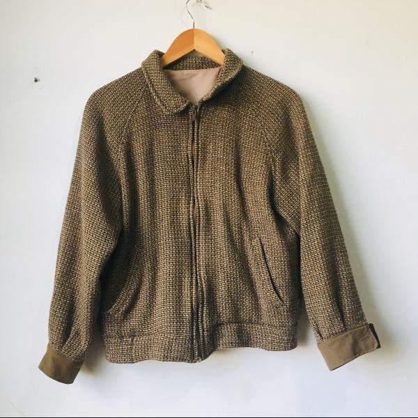 Jaqueta bomber de lã vintage
