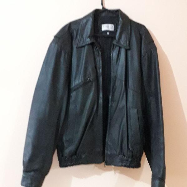 Jaqueta masculina em couro gg