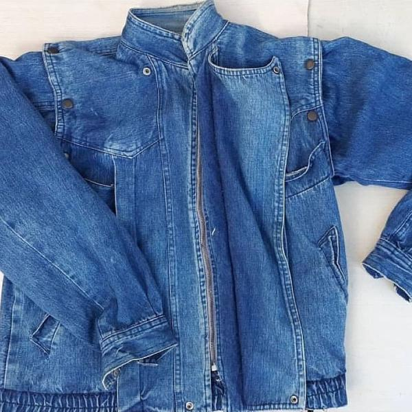 Jaqueta perfect retro... vira colete veste gvunissex