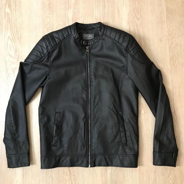 Jaqueta primark de couro preta tamanho p