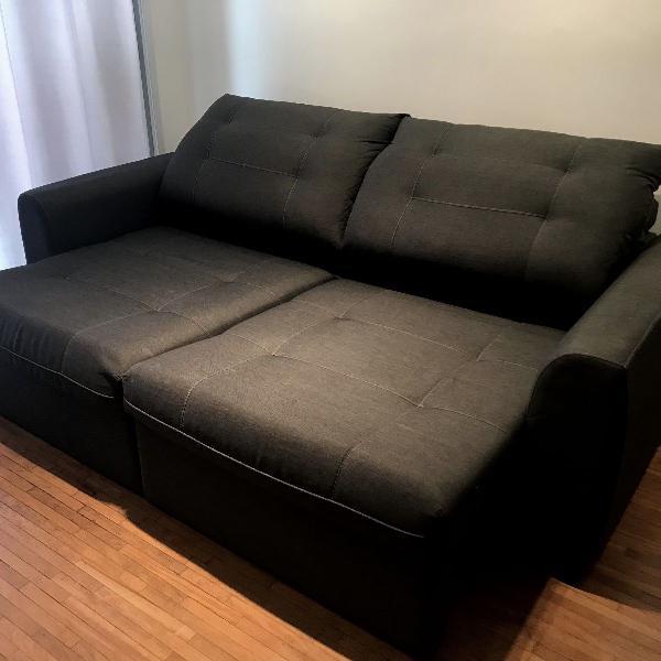 sofá retrátil 3 lugares tokstok - na garantia - grátis