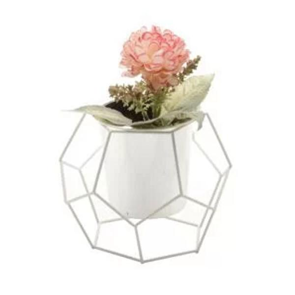 Vaso geométrico octagonal