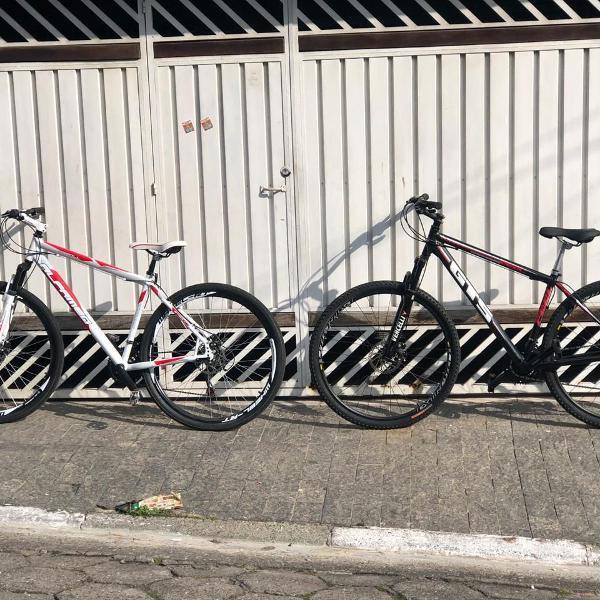 2 bicicletas gts fell e alfameq stroll + suporte carro