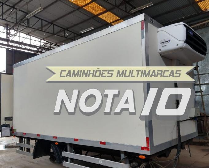 Baú frigorífico gancheiro 2012 para caminhão 3.4