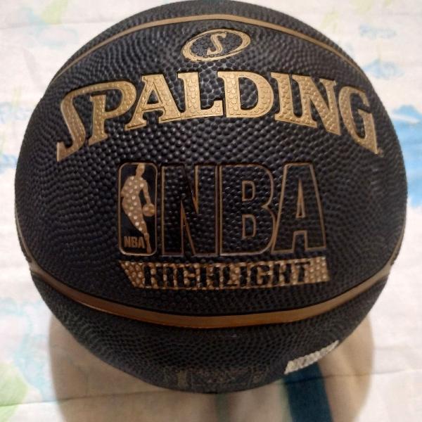 Bola basquete spalding highlight gold - preto e dourado
