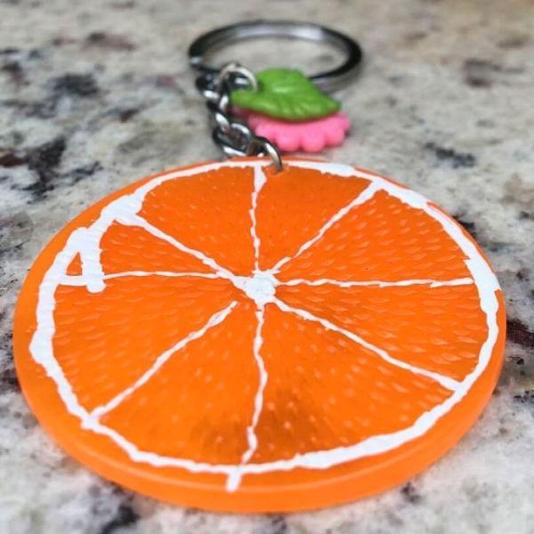 Chaveiro fatia de laranja