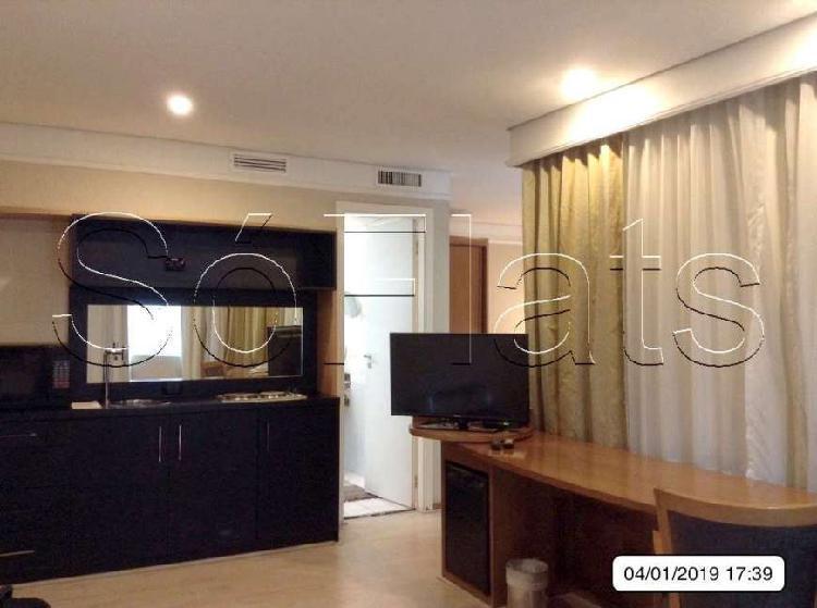 Flat com 1 quarto para alugar, 30 m² por r$ 2.820/mês cod.