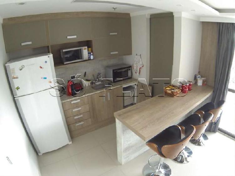 Flat com 1 quarto para alugar, 52 m² por r$ 2.600/mês cod.