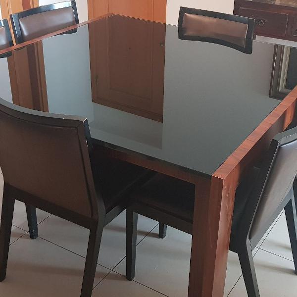 Mesa jantar c/ 6 cadeiras