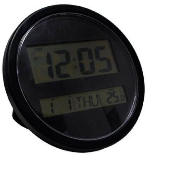 Relógio digital preto wall clock redondo