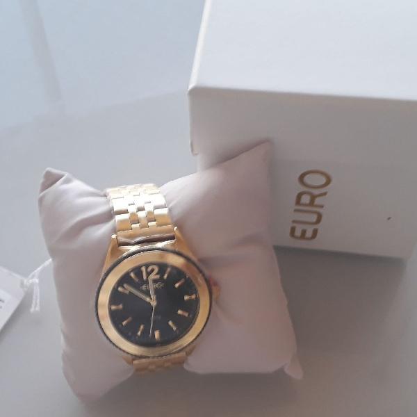 Relógio euro feminino metal trendy dourado - eu2036ymk/4p