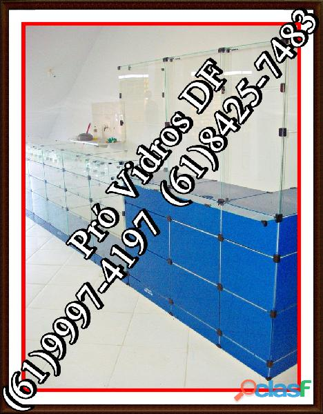 Balcao de vidro samambaia,df,(61)9 8185 6333,temos pronta entrega,em brasília, df,entorno.
