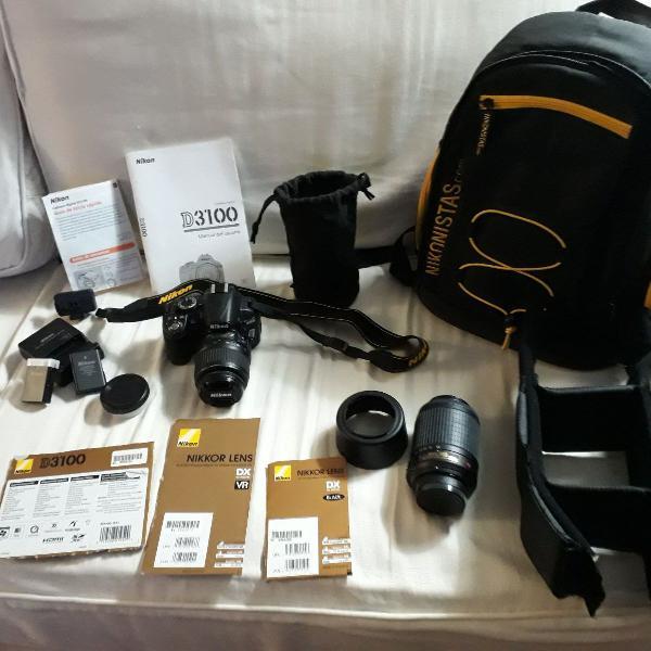 Câmera digital nikon d3100 completa