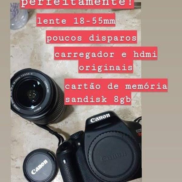 Câmera digital profissional canon t2i