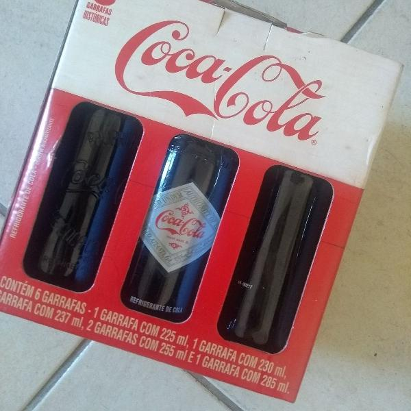 Coleção garrafas coca cola retrô