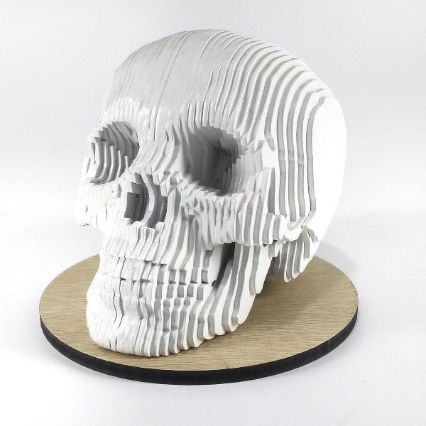 Decoração caveira esqueleto maciça mdf