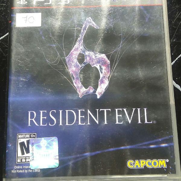 jogo de PS3 residentevil 6
