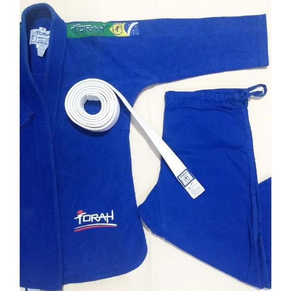 Kimono azul torah tamanho jr