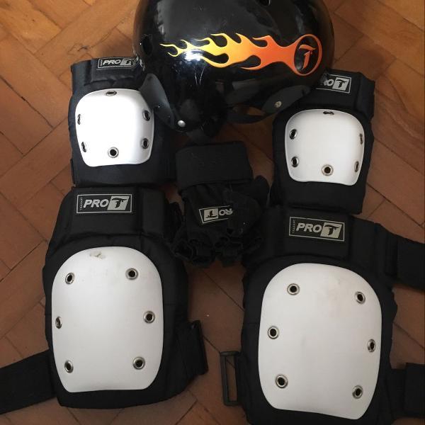 Kit proteção skate roller bmx bike traxart