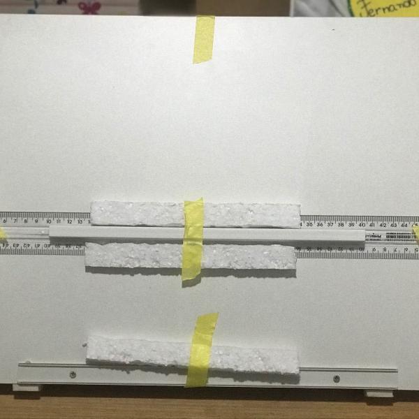 prancheta portátil para desenho a2+régua paralela trident