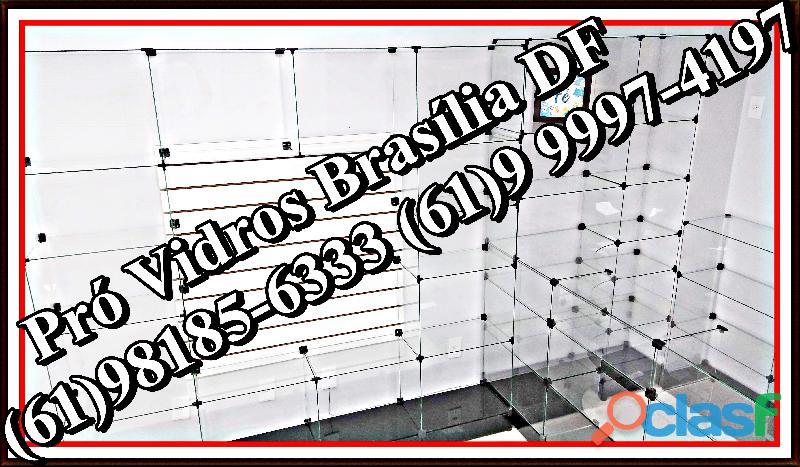 Prateleira de vidro,(61)9 9997 4197,samambaia,brasília,df,entorno.