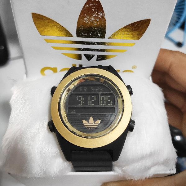 Relógio digital adidas pulseira de silicone +estojo