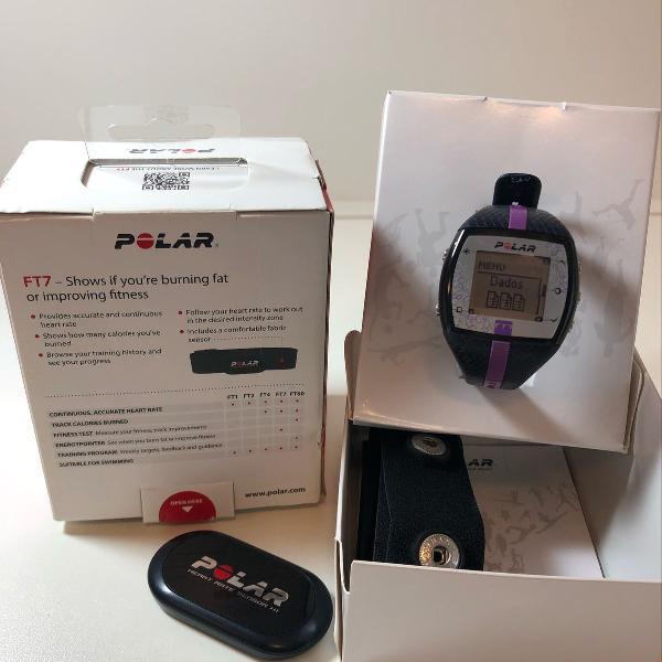 Relógio e monitor polar ft7 - feminino - azul / lilás