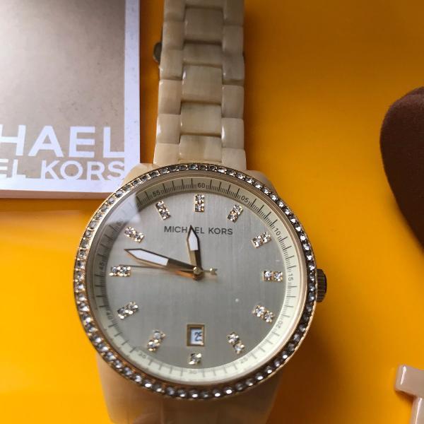 Relógio feminino michael kors dourado original