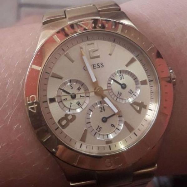 Relógio guess dourado original