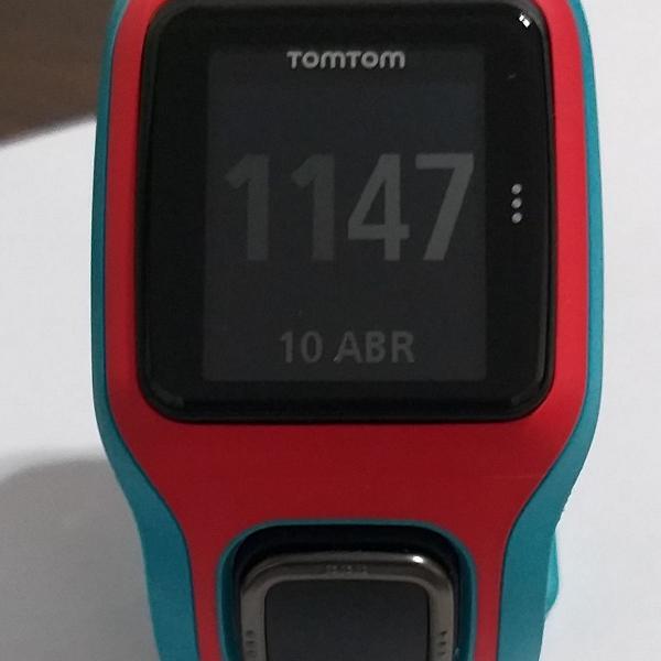 Relógio monitor cardíaco tomtom gps runner cardio