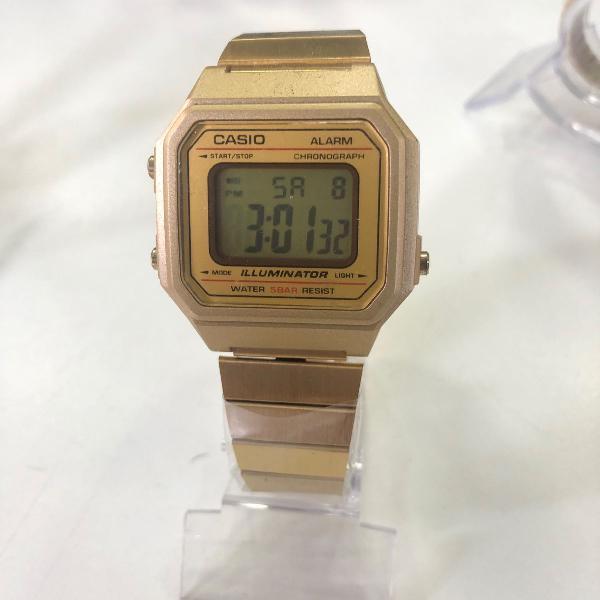 Relogio casio b650wc-5 retrô dourado