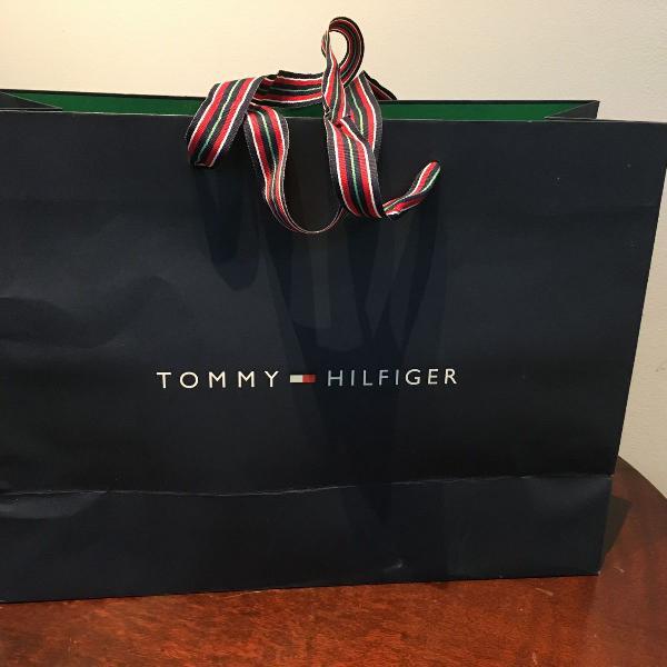 sacola grande para embalagem tommy hilfiger