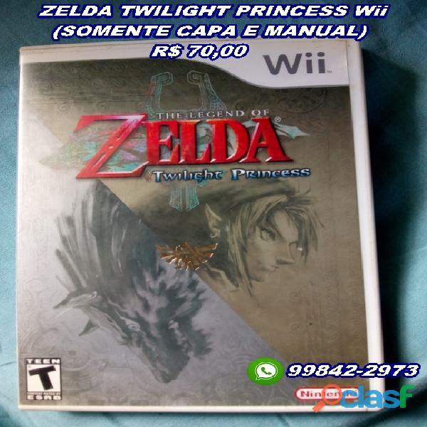 Zelda twilight princess wii (somente capa e manual)
