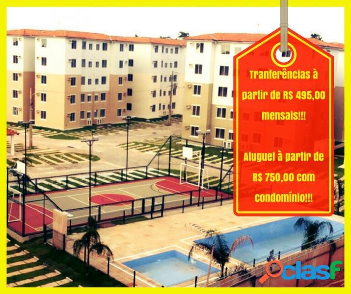 Apartamento com 2 dorms em ananindeua - quarenta horas (coqueiro) por 750 para alugar