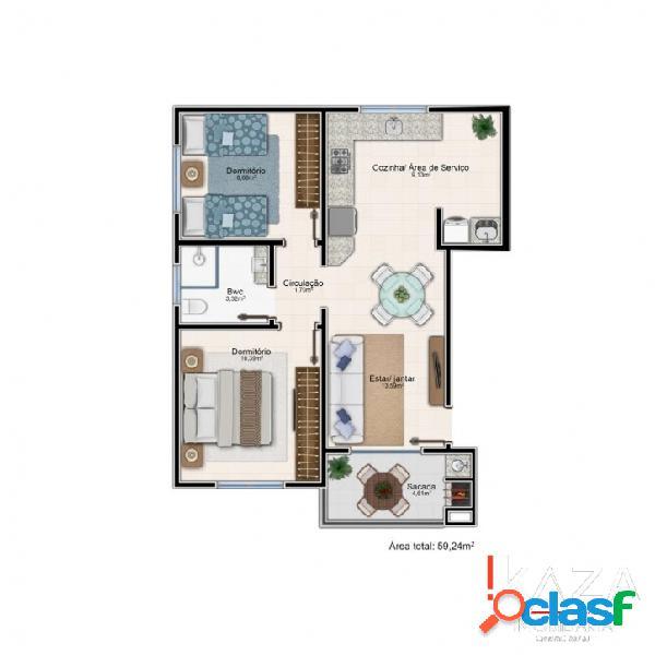 Apartamento 2 quartos - bairro aririu - palhoça