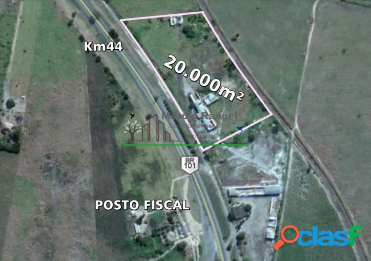 Grande área km 44 br101 norte - com galpão à reformar