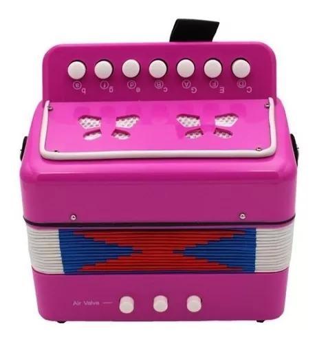 Acordeão de música infantil rosa