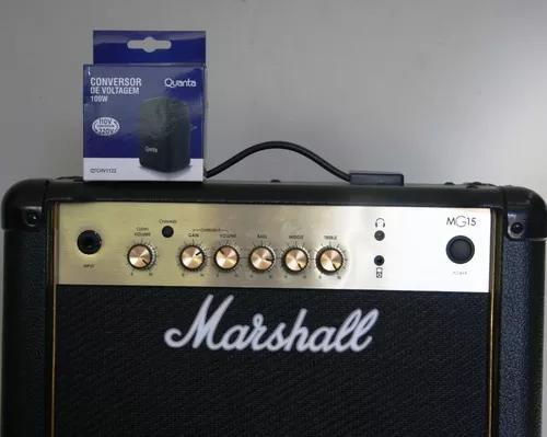 Amplificador (caixa) de guitarra marshall mg 15 gold novo