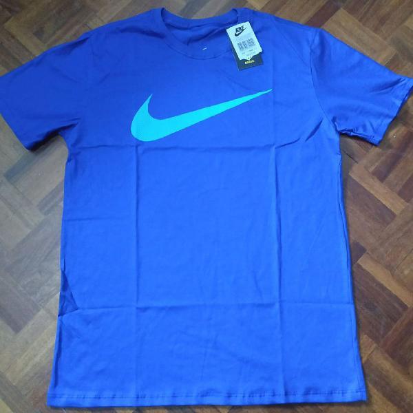 Camiseta nike manga curta azul