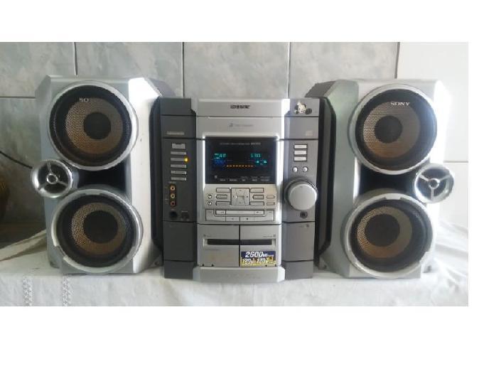 Micro system sony mhc rg55 2600w c controle
