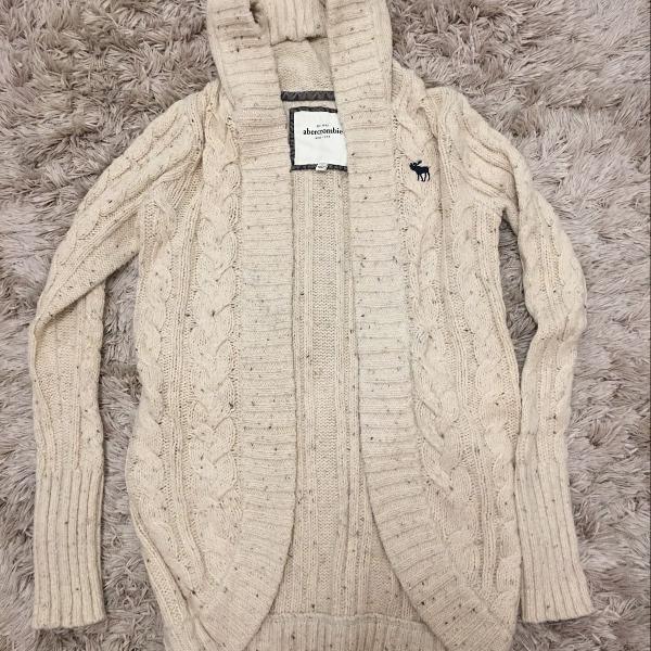 Casaco lã abercrombie tamanho extra grande infantil